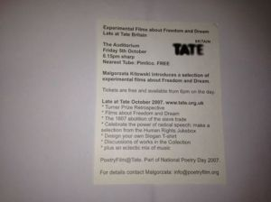 Tate freedom and dream