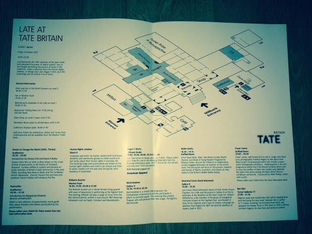 A3 poster for the PoetryFilm event at Tate Britain in October 2007