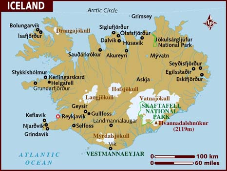 Iceland Map