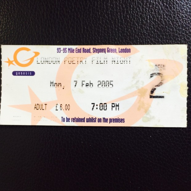 London PoetryFilm Night Ticket