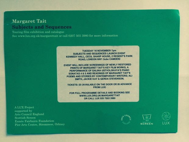 Margaret Tait LUX Postcard
