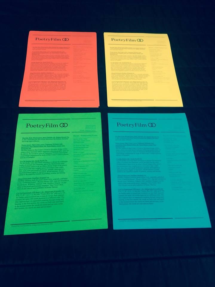 PoetryFilm programmes