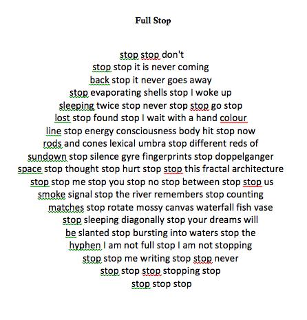 Full Stop - Punctuation Poem