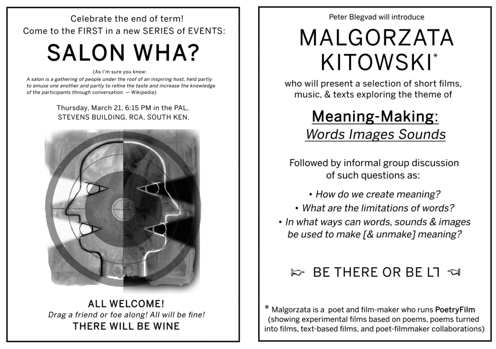 PoetryFilm Salon poster